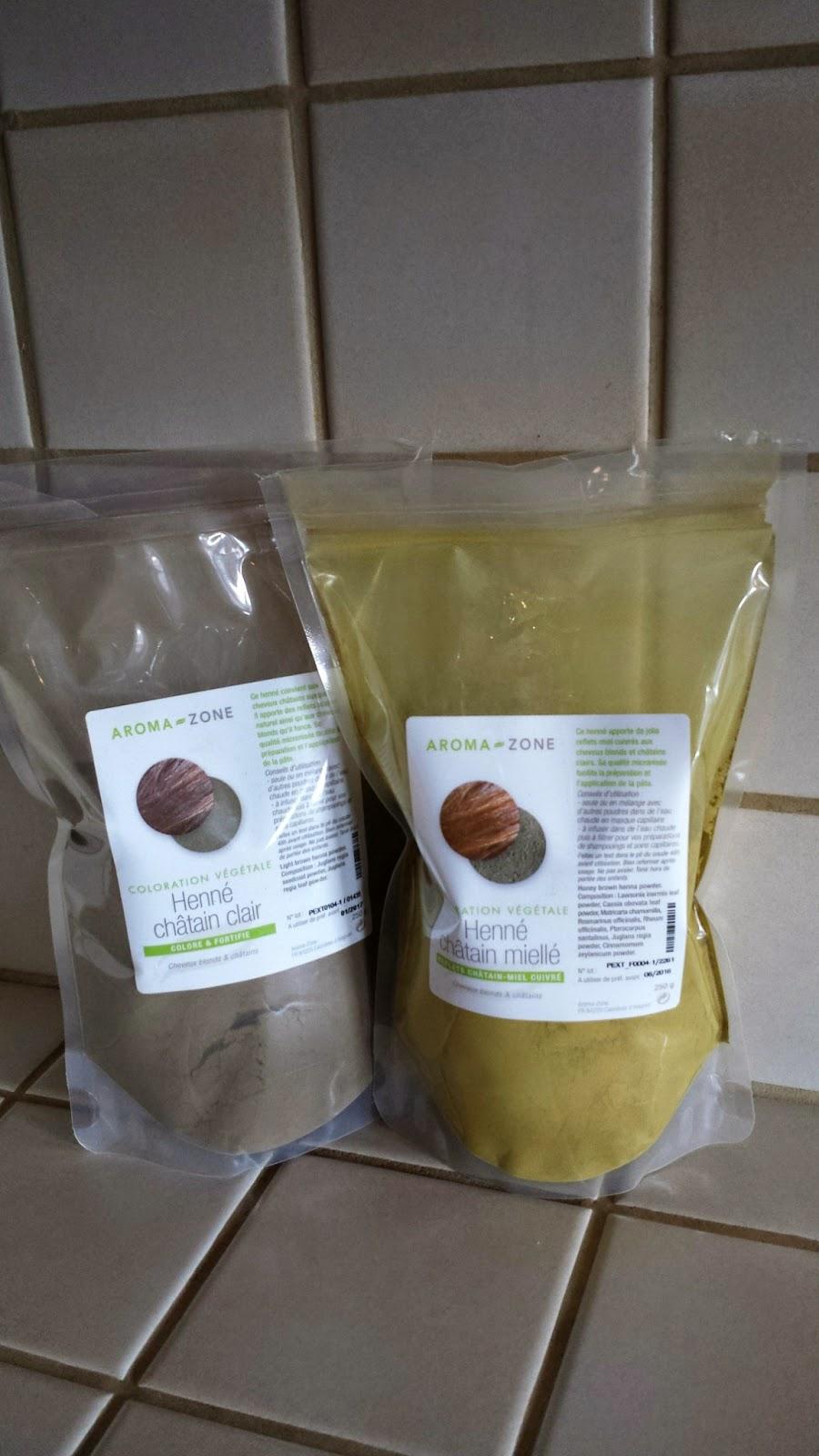 me voici encore sur le site de aroma zone et jhsite chtain miell chtain clair les 2 bon je prends les 2 avec lide de les combiner afin de - Coloration Henne Chatain Clair