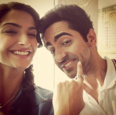 Sonam Kapoor & Ayushmann on the sets of their YRF movie