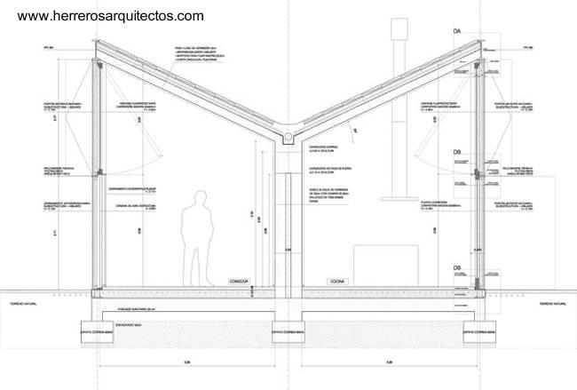 Arquitectura De Casas Casa De Piedra Con Techo Invertido
