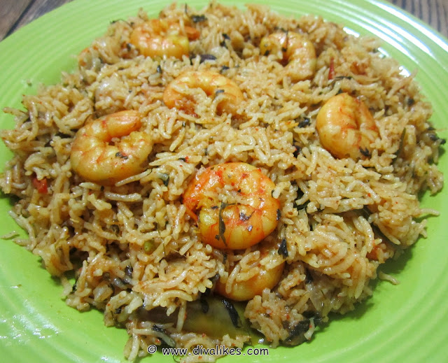 Prawn Biryani / Shrimp Biryani (Pressure Cooker Method) | Diva Likes