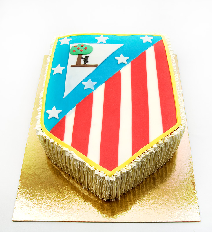 Athletico de madrid cake front