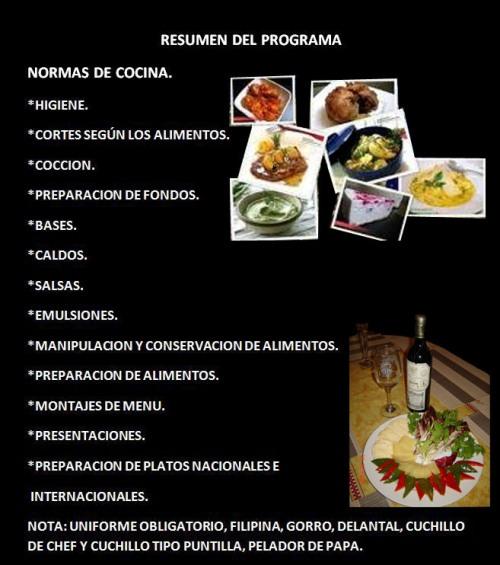 Estudios higuera cocina chef - Tecnicas basicas de cocina ...