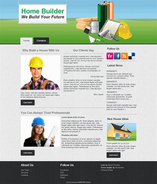 Home Builder - Free Joomla! Template