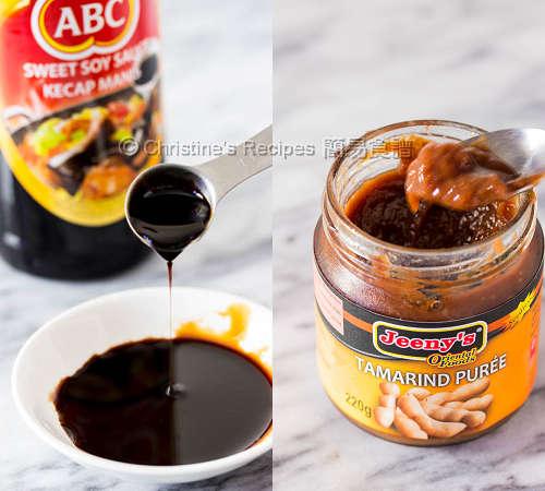 Ketcap Manis and Tamarind Puree
