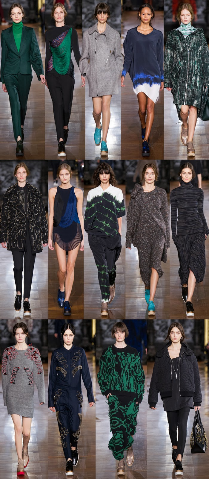 Stella McCartney fall winter 2014 runway collection, PFW, Paris fashion week, FW14, AW14