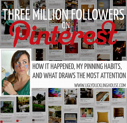 three million Pinterest followers