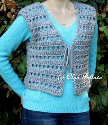 Easy Crochet Baby Vest Pattern : Lacy Crochet: Chunky Crochet Vest