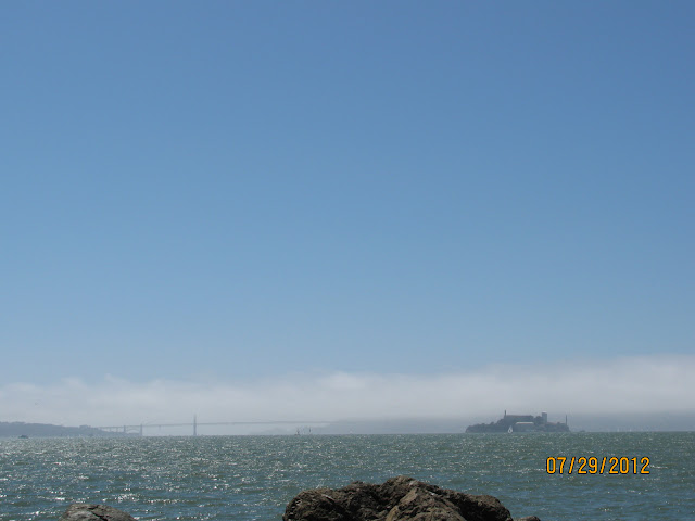 Golden Gate Bridge & Alcatraz in San Francisco Fog