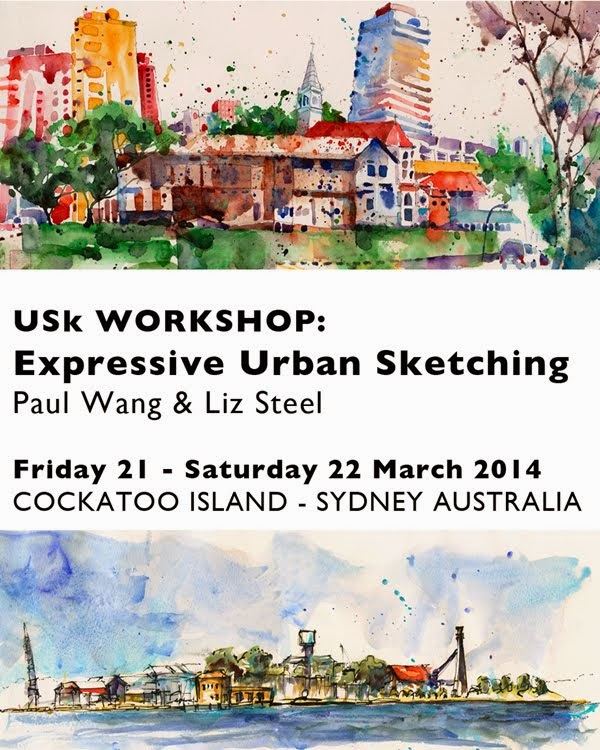 Expressive Urban Sketching - Cockatoo Island Workshop