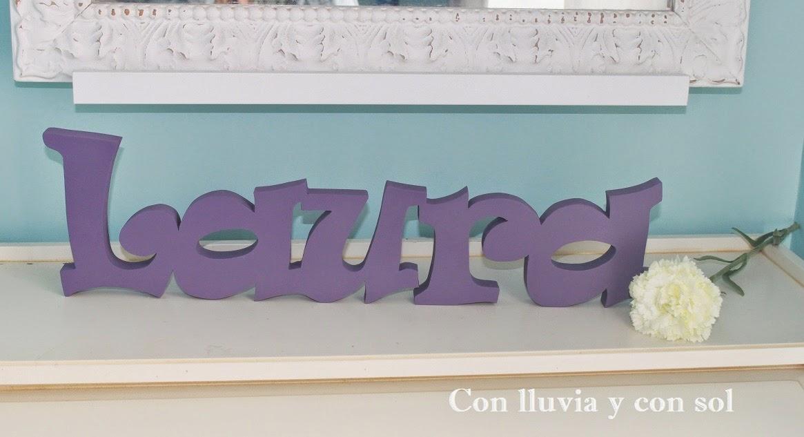 Letras decorativas pared letras decorativas que forman la - Letras decorativas pared ...