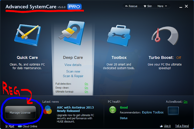 Advance Systemcare 5 Pro Registered