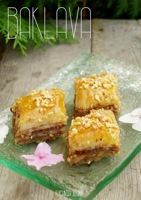 kuchnia ilony, baklava, deser, kuchnia balkańska, kuchnia turecka, ciasto filo, ciasto greckie, ciasto, slodycze