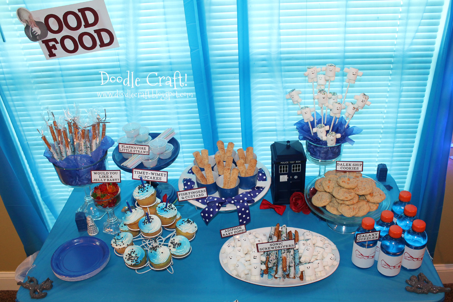 Doodlecraft doctor who party week for All decoration games