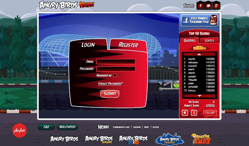 Angry Birds Heikki for Facebook - Britain Silverstone - 3 ...