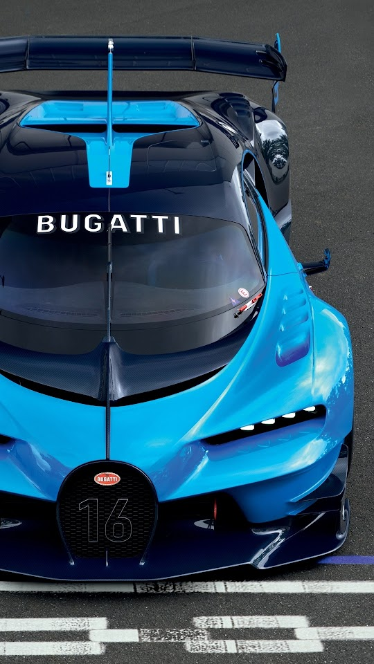 Blue Bugatti Vision Gran Turismo 2015 Galaxy Note HD Wallpaper