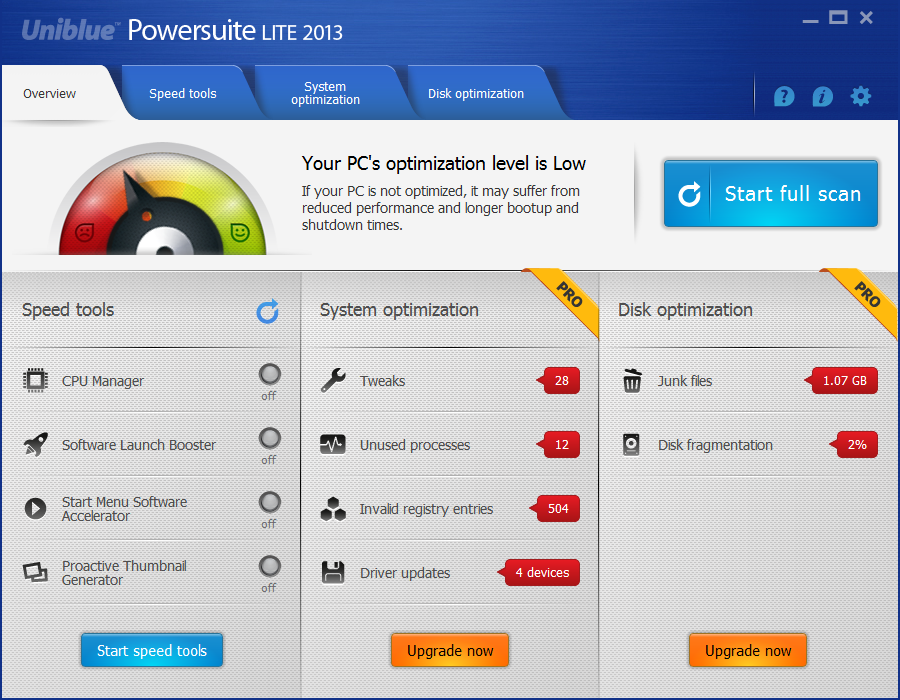 Uniblue PowerSuite Pro Final Serial Free Download