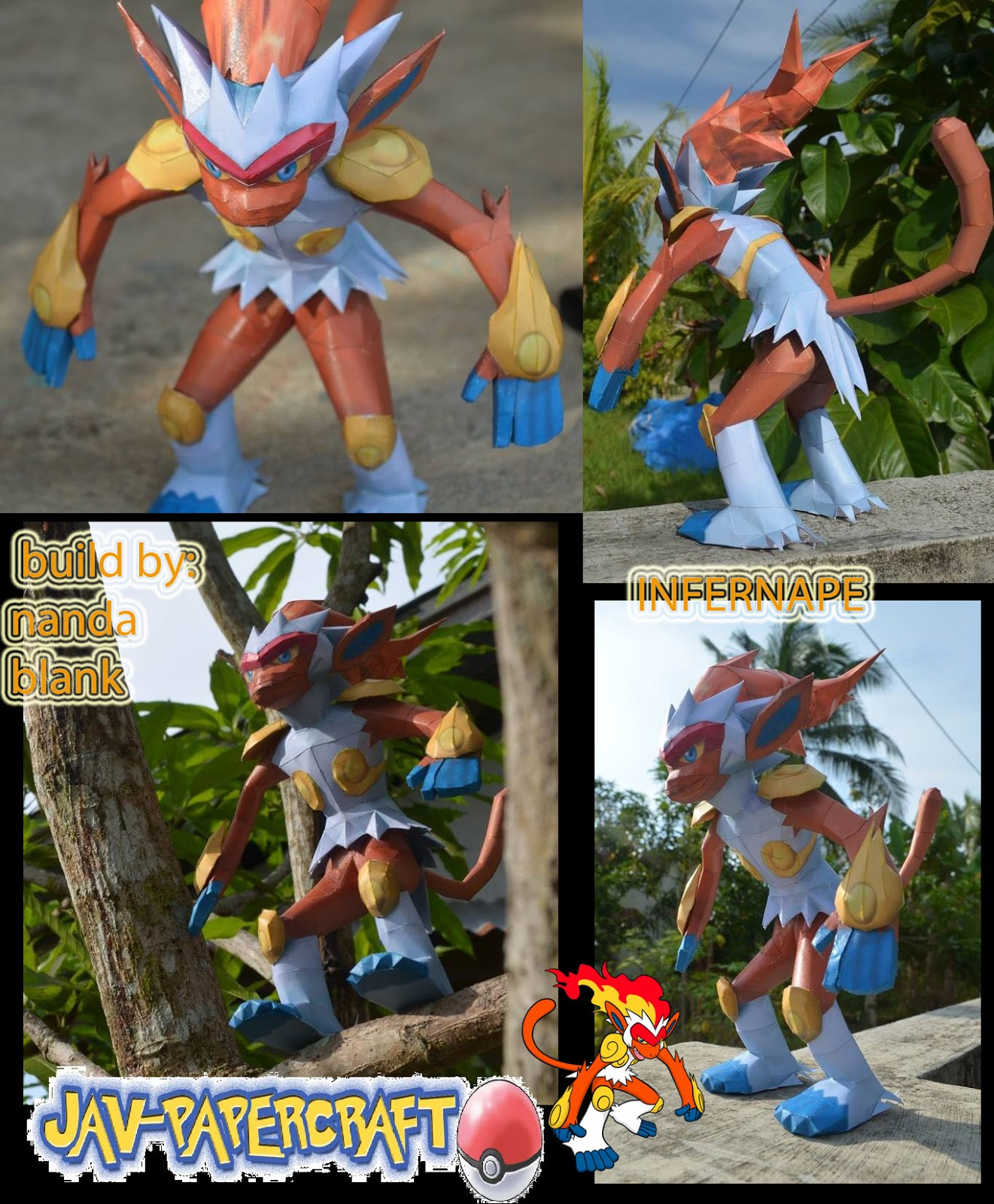 Pokemon Infernape Papercraft