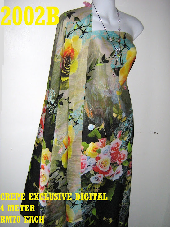 CP 2002B: CREPE EXCLUSIVE DIGITAL PRINTED, 4 METER