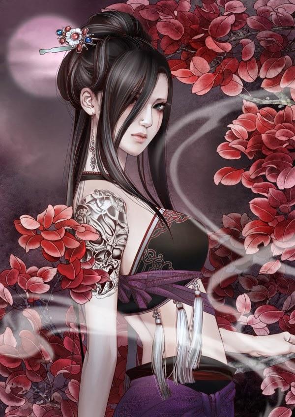 Bienvenidos al nuevo foro de apoyo a Noe #223 / 11.02.15 ~ 13.02.15 - Página 38 Girls-+and+-tattoos+-glamorous-+-illustrations-+by+Zhang+-Xiaobai+(9)