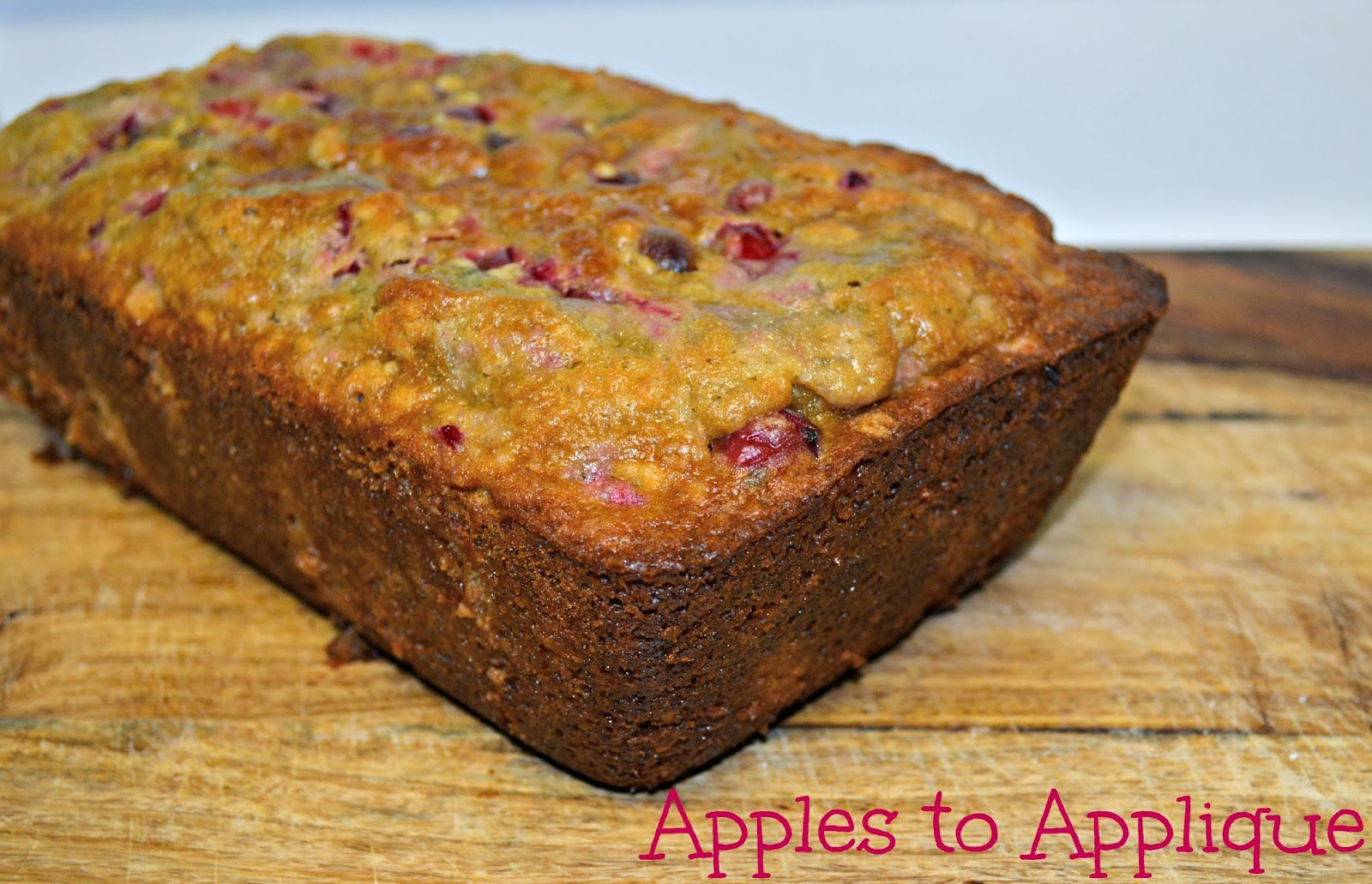 Apples to Applique: Cranberry Orange Bread with Oats and Pecans