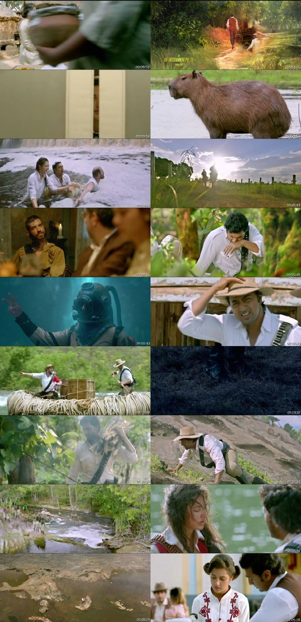 Screen Shot Of Tollywood Movie Amazon Obhijaan 2017 Full Movie In Hindi Dubbed Free download 720P HD