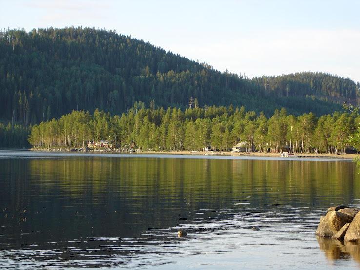 Mot badstranden på Österövsjö