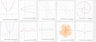 Picture of different functions created on www.Desmos.com