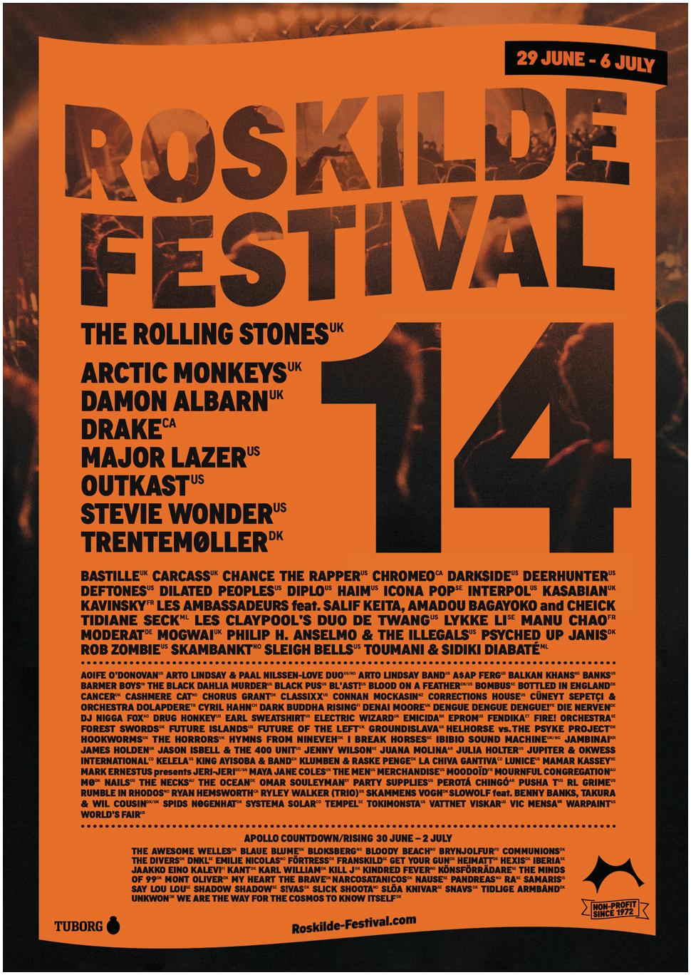 Roskilde, Festival, 2014, line up