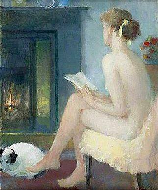 Thomas J. Carr. Girl Reading, 1989