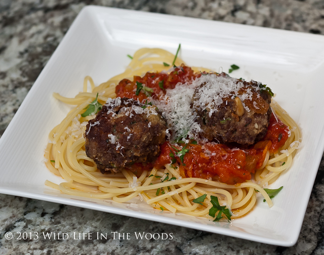 The best Spaghetti and Meatball recipe ever, where the meat is venison.