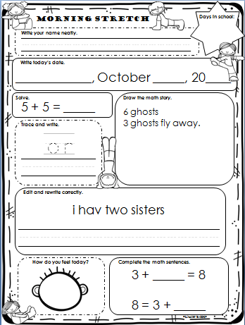 Worksheets Morning Work Worksheets morning math common core grade 3