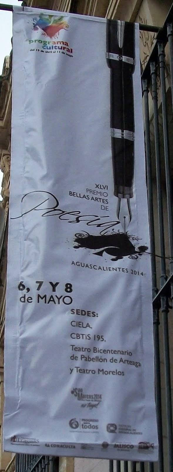 XLVI Premio Bellas Artes de Poesía Aguascalientes