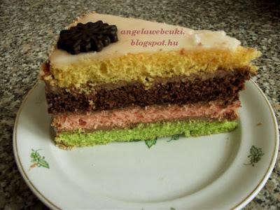 egy színes torta szelet