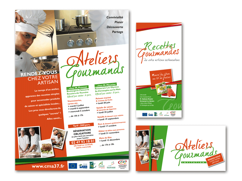 Pr2i agence de communication ateliers gourmands et for Chambre agriculture indre