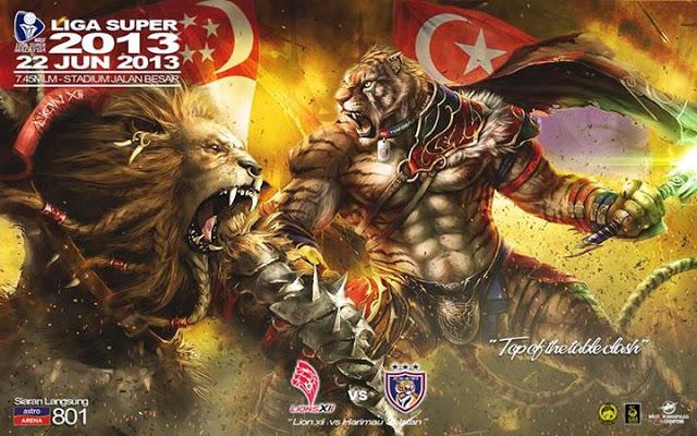 Live Streaming Lions XII vs Johor Darul Takzim 22 Jun 2013 - Liga super