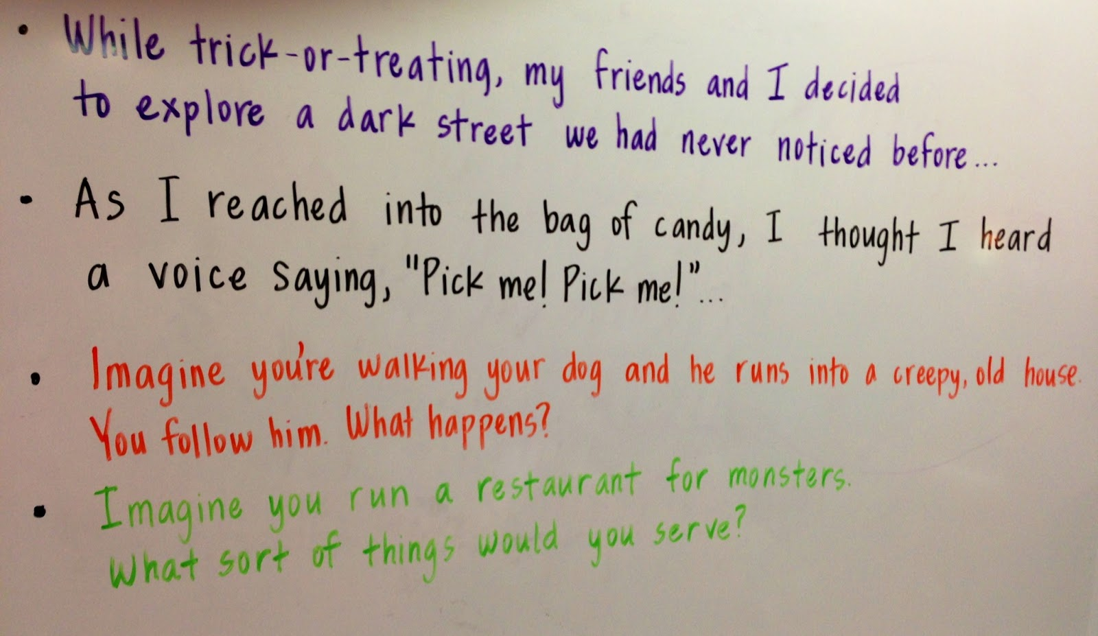 teaching a smile spooky writing wednesday 31 2012
