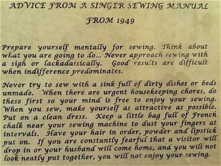 Town And Country Quilters The Singer Sewing Machine Manual 1949