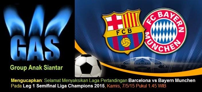 Prediksi Barcelona vs Bayern Munchen Leg 1 Semifinal Liga Champions 2015
