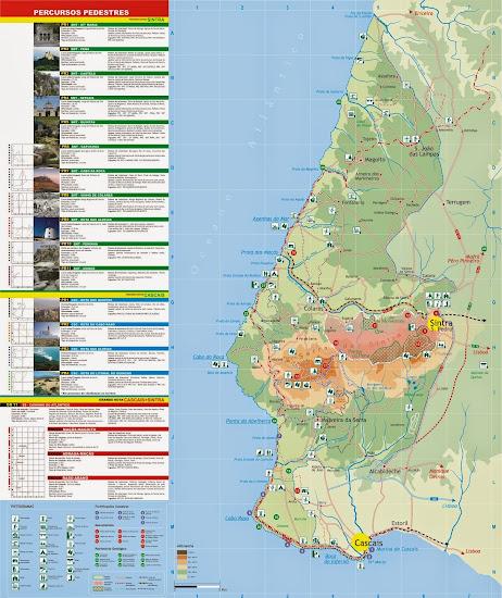 Mapa de Sintra e Cascais