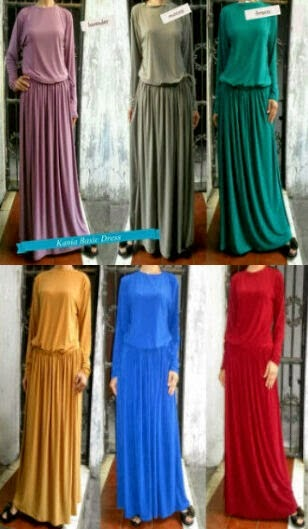 Gamis Jersey Serut Broom Dress | azzahidahcollections.com