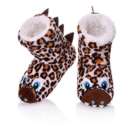 198265f9e49 FANZERO Kids Girls Boys Floor Slippers Cute Animal Soft Warm Plush Lining  Non-Slip House Shoes Winter Boot Socks 2-7 Year Old (S   2-3 Year Old