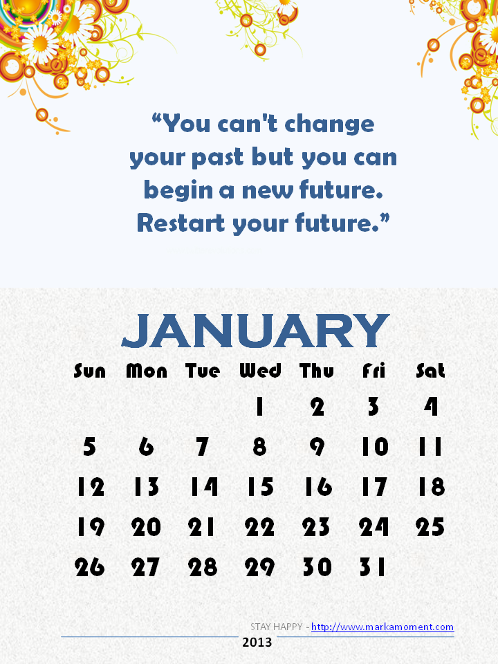 Calendar Inspirational : January quotes quotesgram
