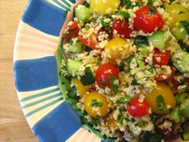 Weight Loss Recipes : Tabbouleh Salad with Lemon-Garlic Dressing
