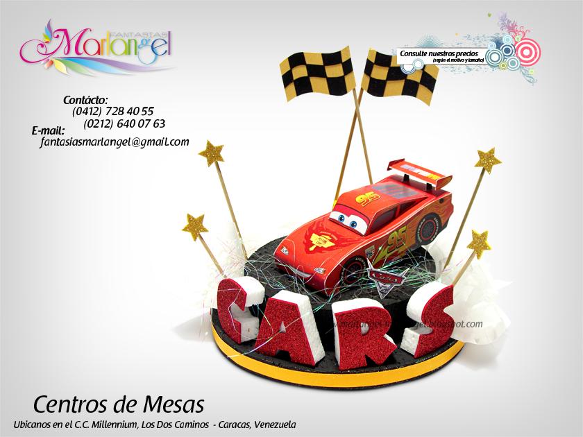 Centro de Mesa - Rayo McQueen - Cars 2