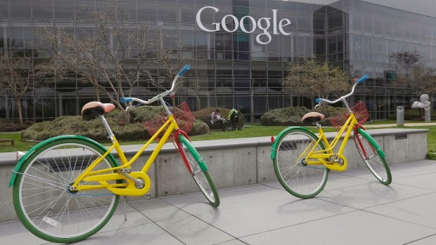 Google+bikes+google+campus+in+mountain+view,+calif.