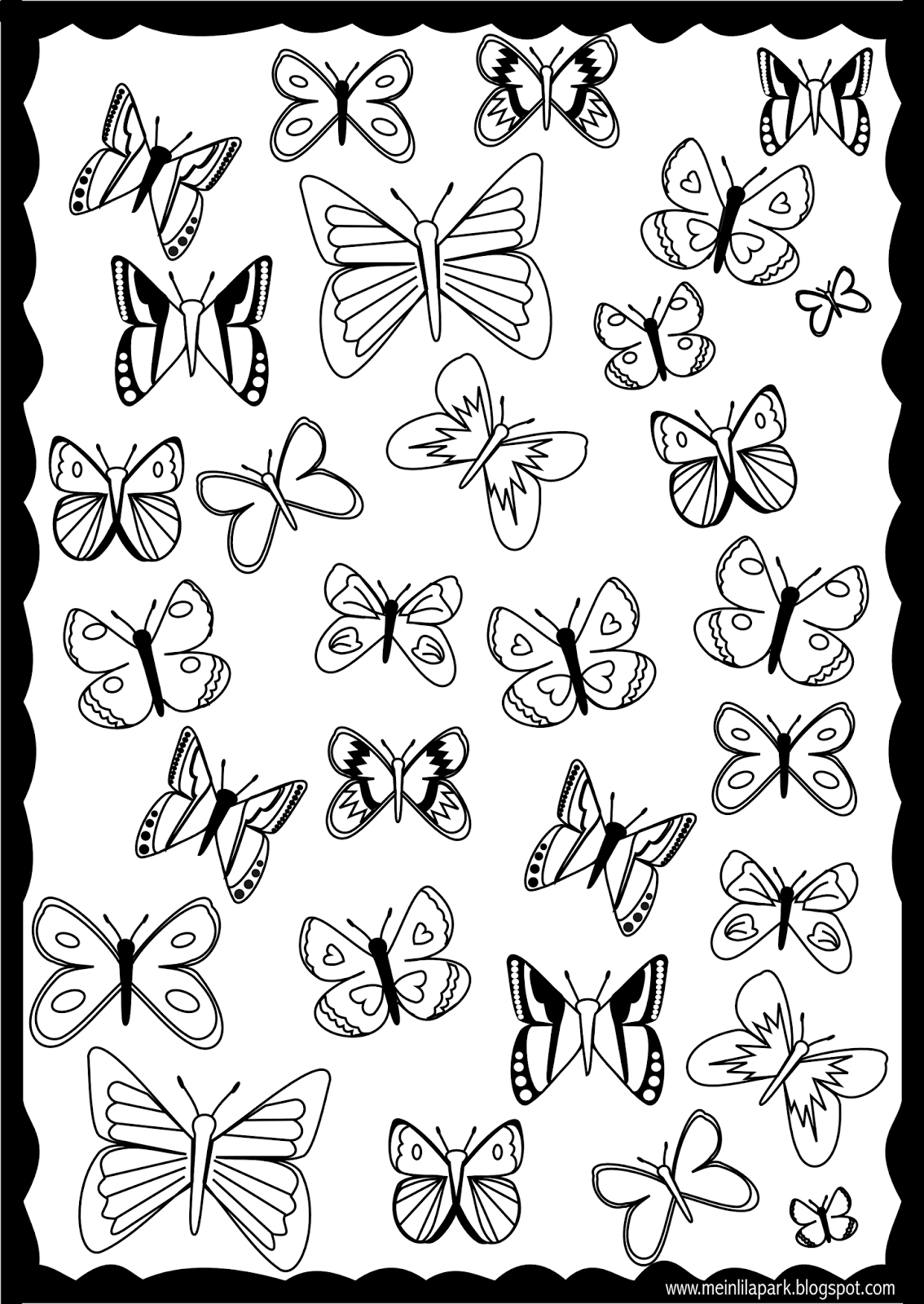 Free Printable Butterfly Coloring Page Ausdruckbare Coloring Pages Printable Free