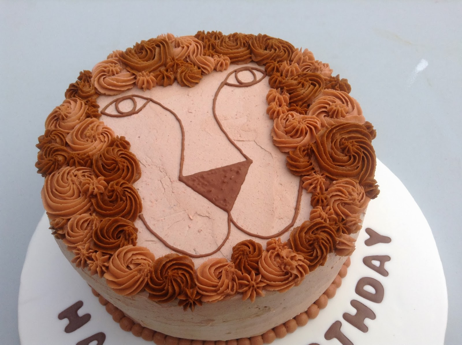 THE MIGHTY BAKER Lion Birthday Cake