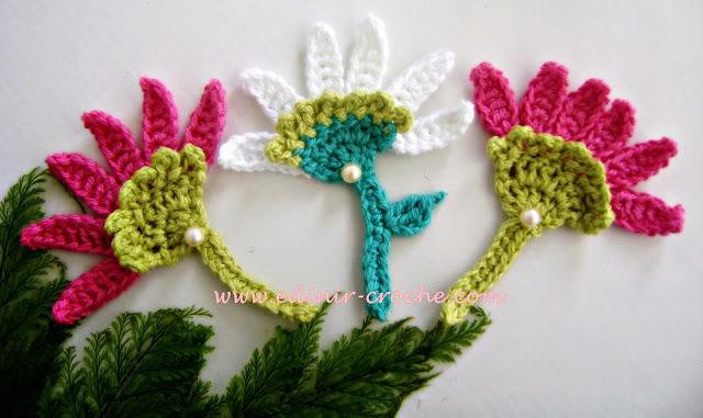 dvd flores em croche 2 flor aster da coleção aprendi e ensinei com edinir-croche videos aulas blog loja