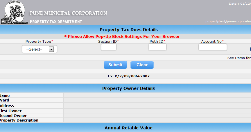 Pay Your Property Tax Online Pune