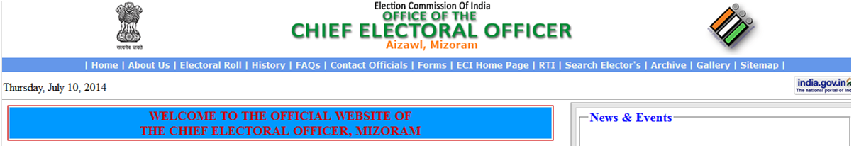 CEO Mizoram Website